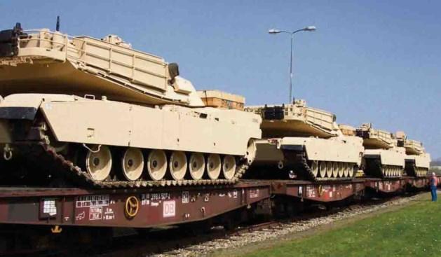 Amerikaanse tanks naar voorpost Limburg