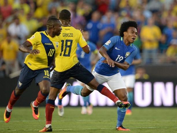 Brazilië komt goed weg in Copa