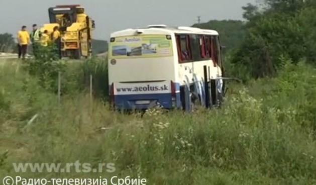 Vijf toeristen dood bij ongeluk met touringcar