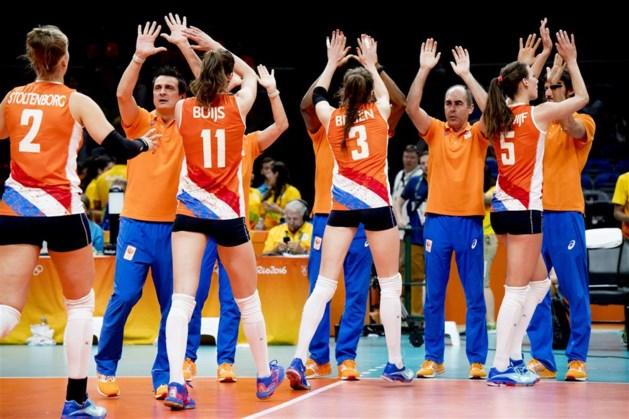 Volleybalsters in vijfsetter langs Servië