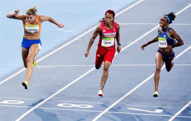 Schippers grijpt naast medaille op 100 meter