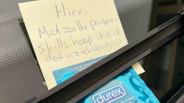 Foutparkeerder op nummer gezet met condoom en briefje