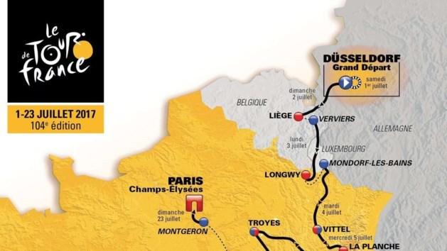 Tour de France verdeelt Aken in twee delen