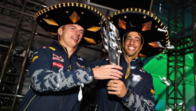 Verstappen viert derde plek van Ricciardo