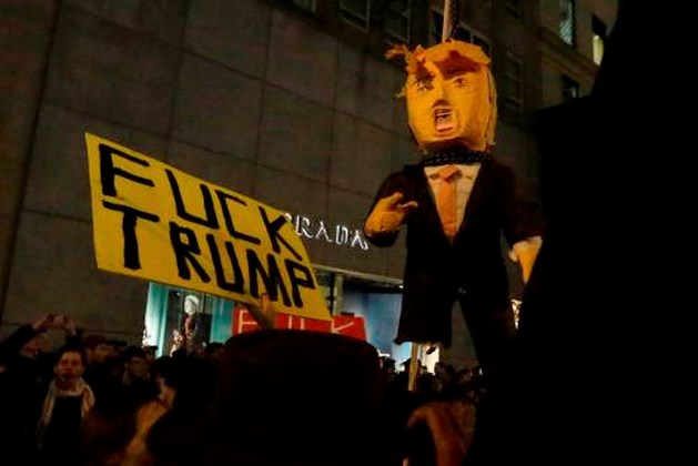 Man neergeschoten bij anti-Trumpprotest