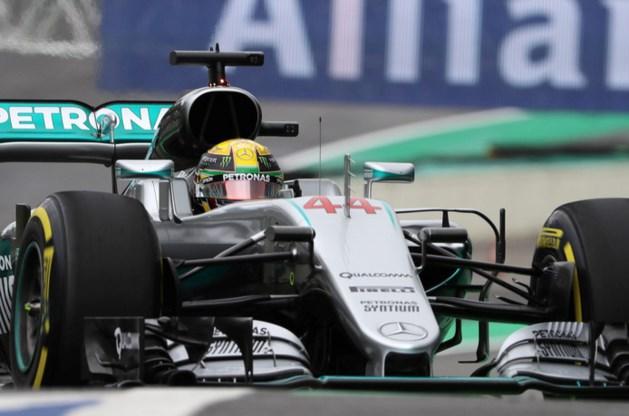 Hamilton ook in Brazilië op pole, Verstappen vierde