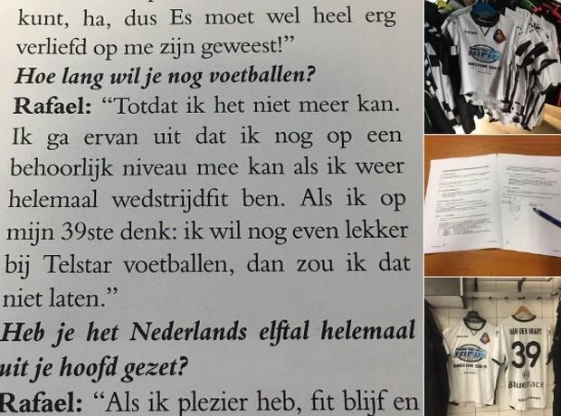 Telstar legt shirt en contract klaar voor Van der Vaart