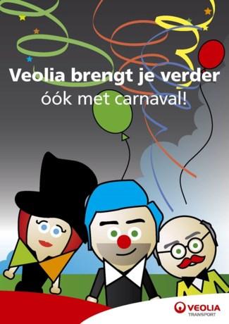 Vakantiedienstregeling Veolia tijdens carnavalsdagen