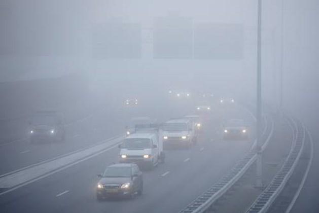Mist in het zuiden, spitsstrook A2 afgesloten