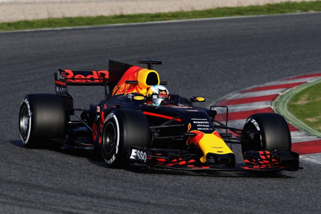 Valse start testdagen Red Bull