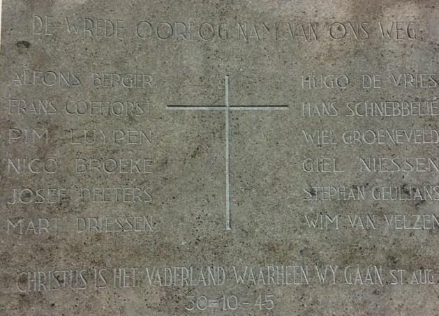 Plaquette oorlogsslachtoffers Venlose Thomascollege terug