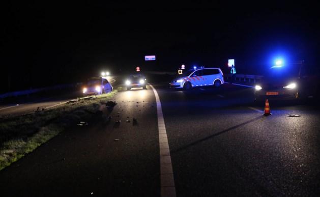 Ongeval met twee auto's op A2 bij Nederweert
