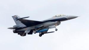 Piloot F-16 beschenen met laser: 'Levensgevaarlijk'