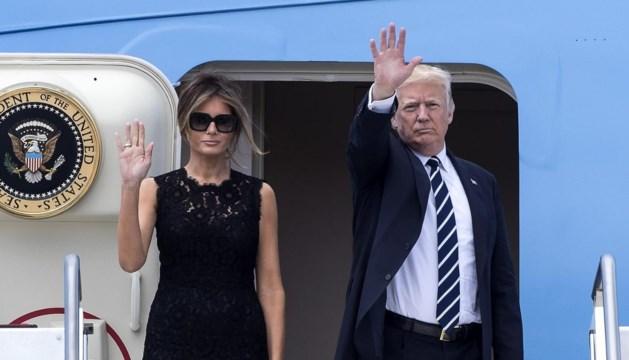 President Donald Trump gearriveerd in 'hellhole' Brussel