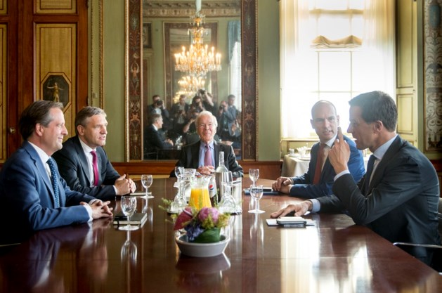 VVD, CDA, D66 en ChristenUnie gaan onderhandelen