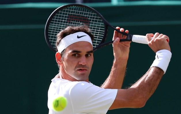 IJzersterke Federer stoomt door naar halve finale Wimbledon