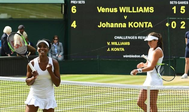 Venus Williams terug in finale Wimbledon
