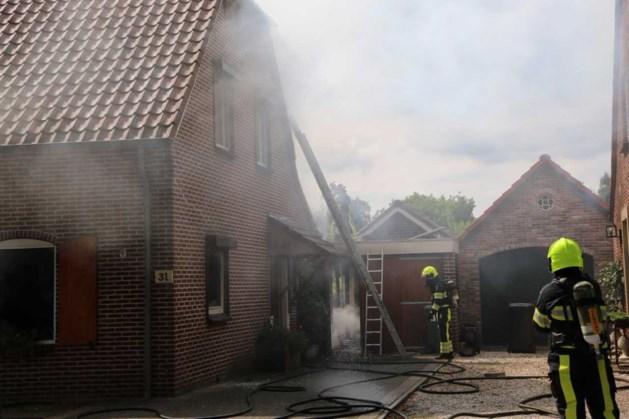 Hond overleden na brand in woning Milsbeek