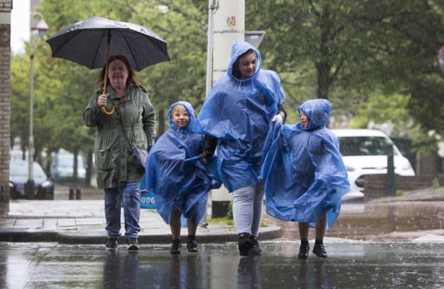 Kletsnatte dag met tientallen millimeters regenval