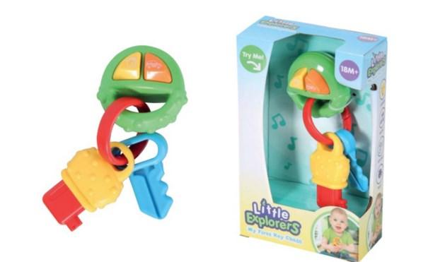Verstikkingsgevaar voor kinderen bij speelgoedsleutel
