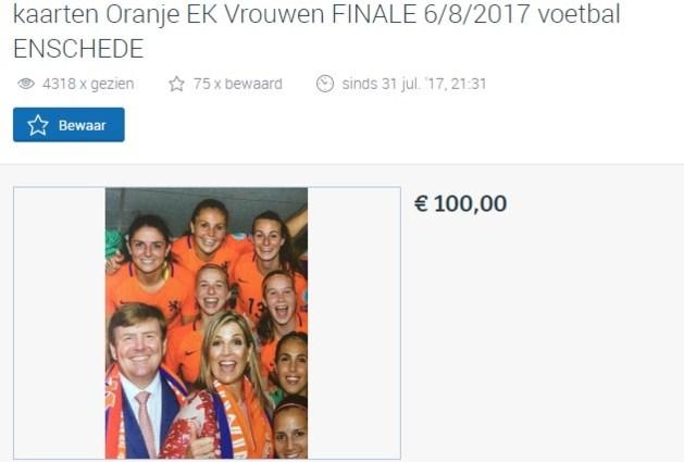 Run op tweedehands kaarten EK finale vrouwen