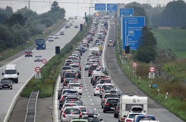 Drukte op snelwegen door start zomervakantie