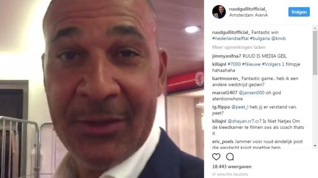 Advocaat gaat hartig woordje spreken met Gullit na kleedkamerfilmpje