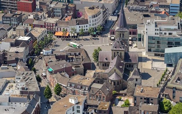 Schaalmodel middeleeuws fort op Pancratiusplein Heerlen