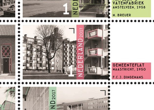 Gemeenteflat Maastricht prijkt op nieuwe postzegel