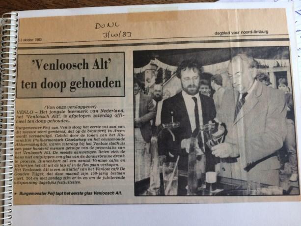 Internationale erkenning voor Venloosch Alt