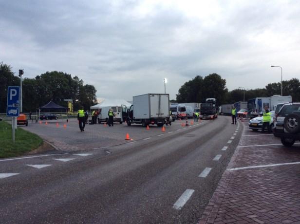 Grote politiecontrole bij Belgische grens