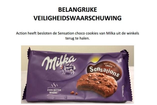 Action haalt chocoladekoekjes Milka terug