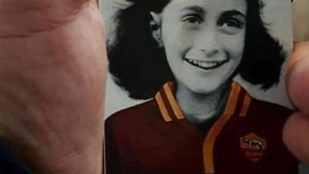 Makers antisemitische Anne Frankstickers Lazio in beeld