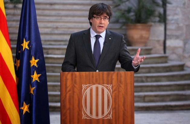 Ontslagen Catalaanse president Puigdemont duikt op in Brussel