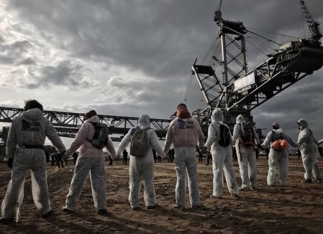 Actievoerders dringen bruinkoolmijn uit protest binnen