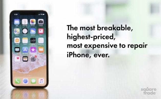 Test: iPhone X 'meest breekbare smartphone ooit'