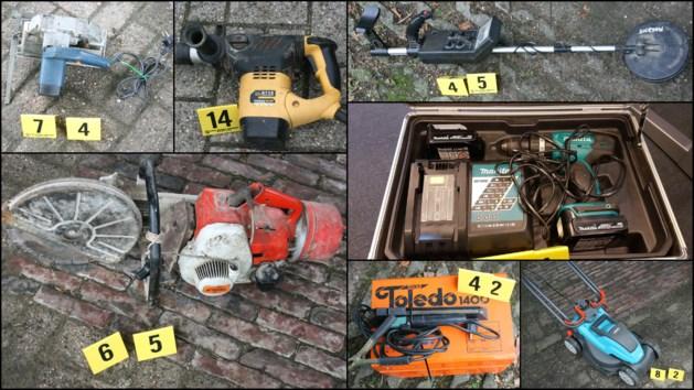 Grote partij gestolen klusmateriaal gevonden, politie zoekt eigenaren