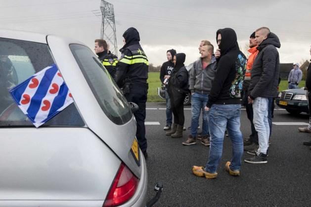 Betogers Anti-Zwarte Piet tegengehouden bij Joure
