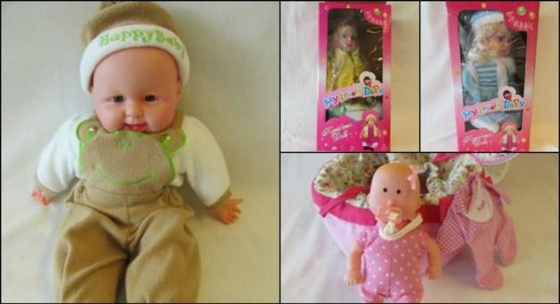 Onveilige babypoppen van de markt gehaald