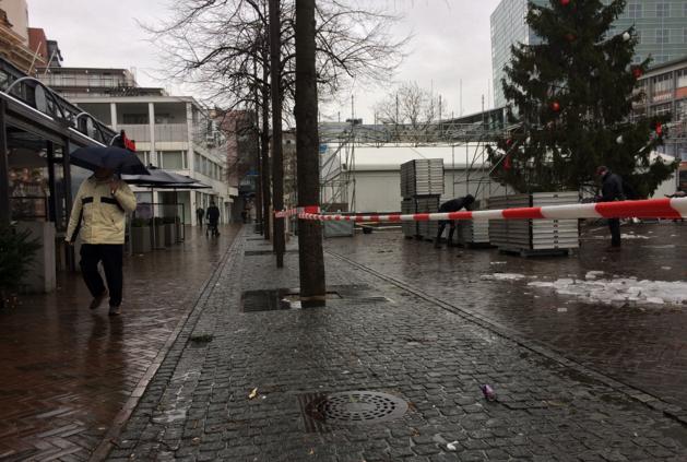 Markt Kerkrade afgezet vanwege omhooggekomen stenen