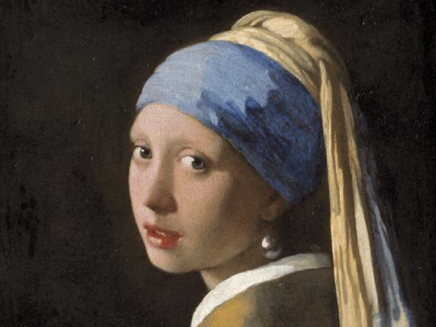Kopie van Océ naast wereldberoemde Vermeer in Mauritshuis