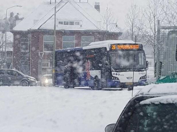 Busverkeer Heerlen heeft last van sneeuwval