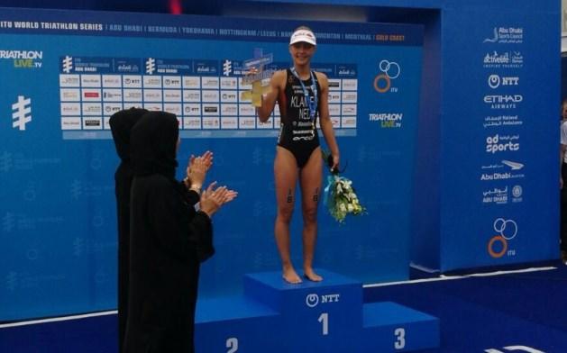 Triatlete Rachel Klamer wint in Abu Dhabi