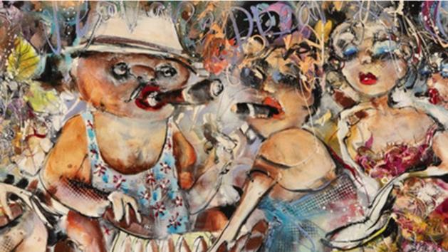 Metersgroot schilderij Maastrichtse schilder gestolen uit Kurhaus
