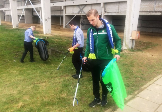 Fortuna-spits zorgt voor opruiming rond stadion