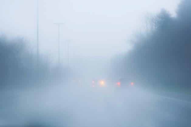 Waarschuwing voor verkeer: lokaal dichte mist