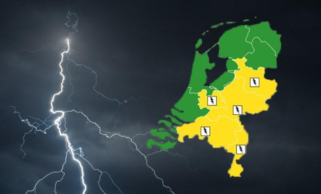 Onweer, hagel en veel regen: opnieuw code geel in Limburg
