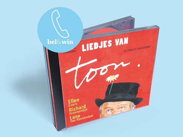 Win dubbel-cd 'Liedjes van Toon'