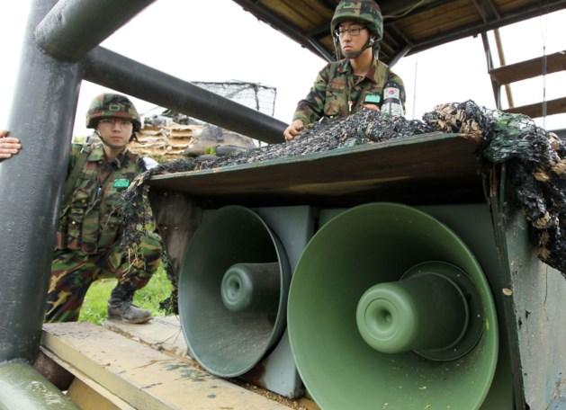 Zuid-Korea stopt met luidsprekerpropaganda aan grens