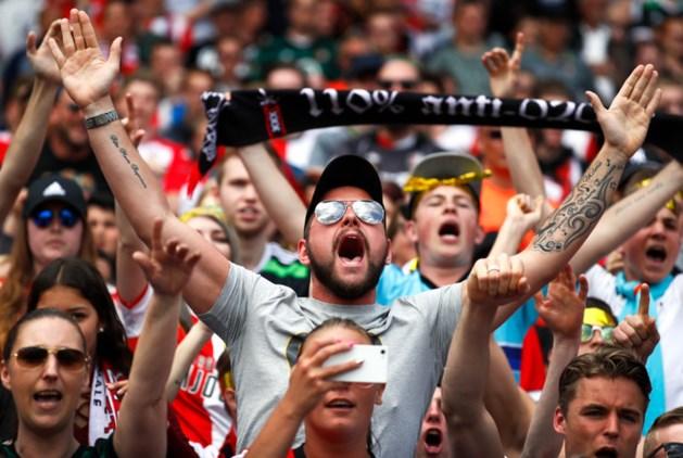 Bekerwinnaar Feyenoord in de Kuip gehuldigd